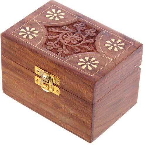 Sheesham Holzbox für 6 Duftöle oder ätherische Öle
