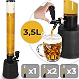 Jago Distributeur Girafe à Bière avec Robinet - 3.5 litres, 90cm Hauteur - Choix de Quantité - Pompe à Bière, Distributeur de Boissons Vin, Alcool