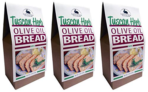 Rabbit Creek Olive Oil Bread Mix Pack of 3 – Tuscan Herb Bread Mix - Quick and Easy Gourmet Bread Mix