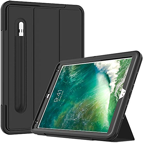 Cantis iPad Air 3 Case,iPad Air 10.5 Case,iPad Pro 10.5 Case 2017,Slim Heavy Duty Shockproof Rugged Full Body Protective Case with Auto Wake/Sleep for iPad Air 3rd Generation 10.5' 2019,Black