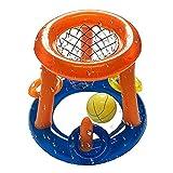 A/A Flotante Hoop Juego, juego de baloncesto inflable para piscina, juguete flotante para niños, adolescentes y adultos, juego de agua competitivo para fiestas de verano