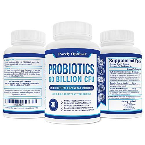 Premium Probiotics 60 Billion CFU with Organic Prebiotics & Digestive Enzymes; Dr. Formulated Probiotics for Women & Men; Shelf Stable Acidophilus Probiotic Supplement, Patented Delay Release Capsules 6