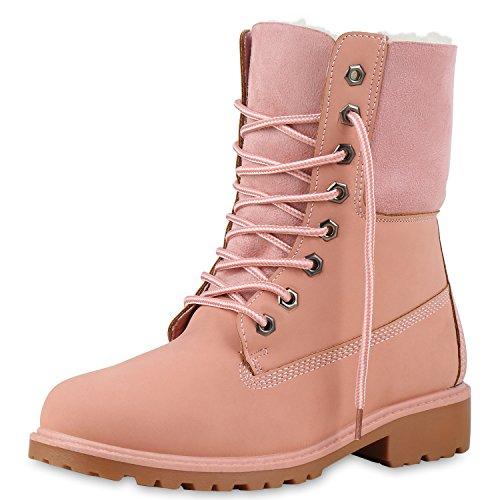 SCARPE VITA Warm Gefütterte Damen Boots Outdoor Stiefel Stiefeletten 165440 Rosa 41