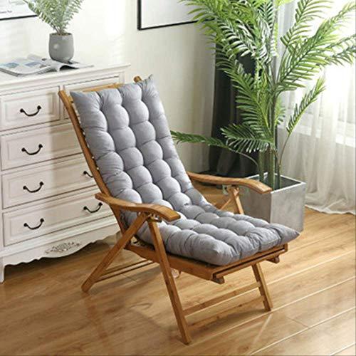 No Solido Lang kussen voor ligstoel, van rotan, opvouwbaar, voor tuin, dik zonlicht en lounge, zitkussen voor bank, bank of bank 48x125cm Grijs
