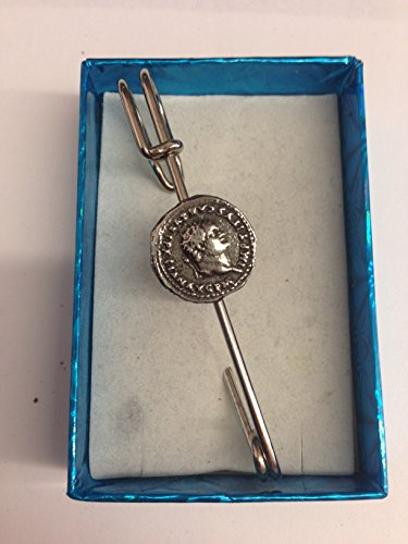 Titus WE-C11 Moneda romana Horquilla bufanda o broche pin peltre emblema 7,6 cm 7,5 cm