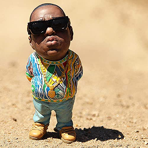 Legende Gedenk-Harz Ornamente, handgefertigte The Late Rap Music Star Resin Sculptures Collectible, Notorious B.I.G und 2Pac (Tupac) Souvenirfiguren Statue, Hip-Hop-Fans Freunde