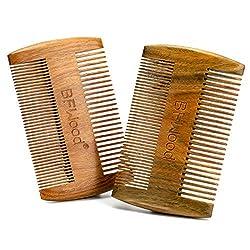 BFWood Beard Comb - Sandalwood Comb (2 pieces)