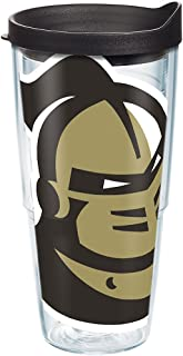 Tervis 1283469 UCF Knights Mascot Colossal Tumbler with Wrap and Black Lid 24oz, Clear