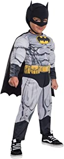 BATMAN Padded Muscle Chest Costume 2T/3T Gray