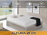 Dormi Premium Cloud 21 - Colchón Viscoelástico, 90 x 190 x 21 cm, Algodón/Poliuretano, Blanco, Individual