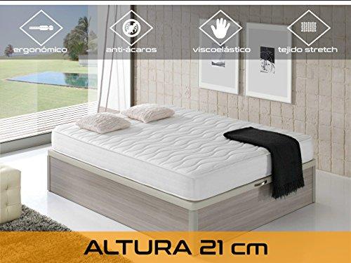 Dormi Premium Cloud 21 - Colchón Viscoelástico, 135 x 190 x 21 cm, A