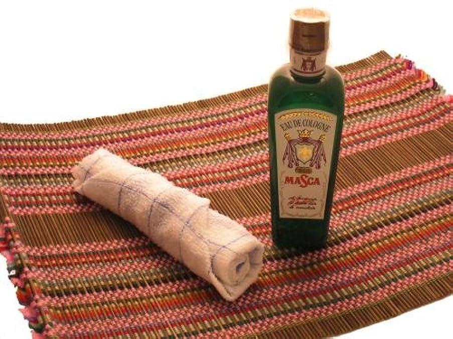 ブラウン柔らかい足海嶺オーデコロンMASCA タイ航空の香り フレングラス おしぼり アジアン雑貨