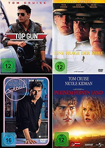 Tom Cruise 4-Filme Collection: Top Gun + In einem fernen Land + Eine Frage der Ehre + Cocktail [4er DVD-Set]