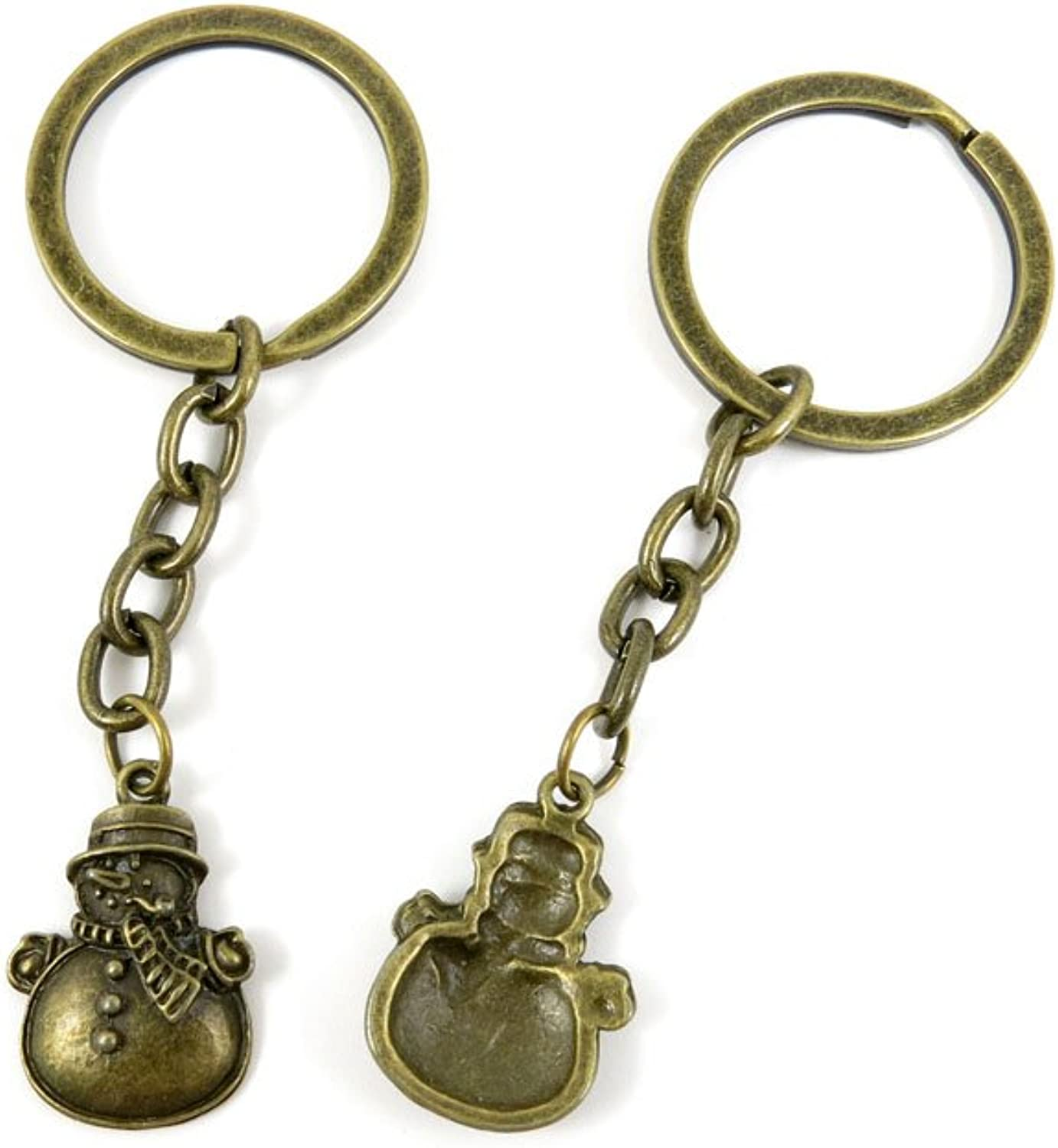 180 Pieces Fashion Jewelry Keyring Keychain Door Car Key Tag Ring Chain Supplier Supply Wholesale Bulk Lots Z6TP7 Xmas Snowman