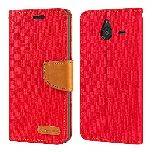 Funda para Nokia Microsoft Lumia 640 XL de piel Oxford con tapa trasera de TPU suave con imán para Nokia Microsoft Lumia 640 XL