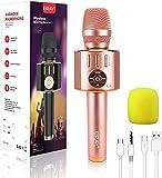 ERAY Microphone Sans Fil Karaoké Bluetooth, 5 en 1 Micro Sans Fil pour...