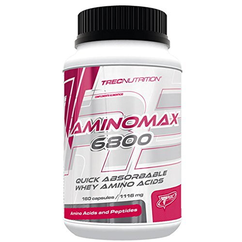 Trec Nutrition Aminomax 6800 Muscle Strength and Recovery Amino Acids Glutamine 160caps