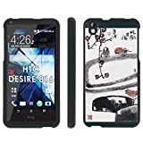 HTC Desire 816 Phone Cover, Birds Perching - Mobiflare Black Slim Guard Armor Phone Case for HTC Desire 816