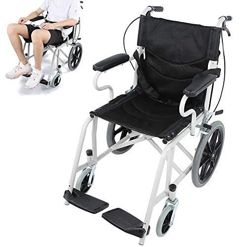 Rollstuhl, Faltrollstuhl Transportrollstuhl Faltbar Tragfähigkeit 120 kg Mit der Handbremse für ältere und behinderte Menschen