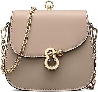LIMING Fashion Leather Diagonal Shoulder Bag Cosmetic Bag Mobile Phone Bag Saddle Bag (Color : Green, Size : 18 * 6 * 16c...