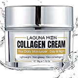Lagunamoon Crema de colágeno para rostro Crema facial de día y noche con colágeno hidrolizado ácido hialurónico vitamina E para hidratar y nutrir la piel humectante facial 50g