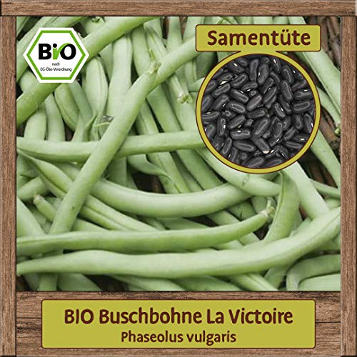 Samenliebe Hochwertige BIO Gemüse-Samen samenfeste Sorten Saatgut BIO DE-ÖKO-007 Geschenk Mix Set, Sorte:BIO Buschbohne La Victoire