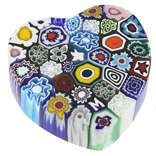 Glass Of Venice Heart Paperweight
