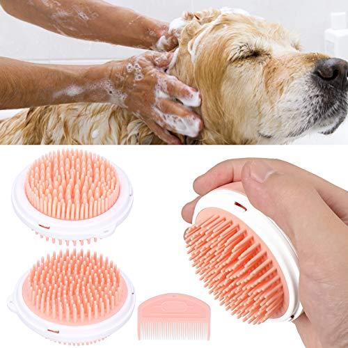 Voluxe Cepillo de doble cara para mascotas, cepillo para perros compacto para gatos (rosa)