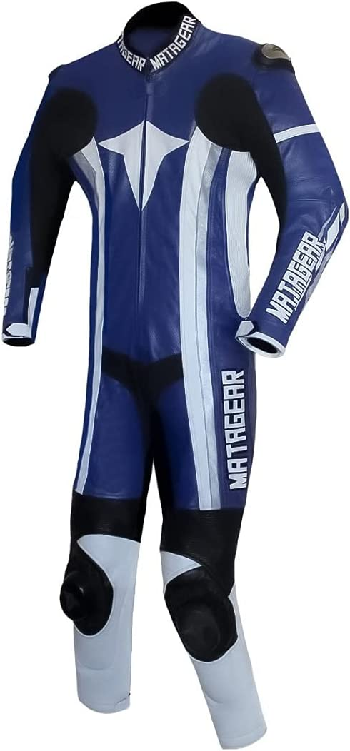 Motorcycle New Ballistic One Piece Racing Blue Leather Sui Track 67% OFF of fixed price Cheap mail order shopping