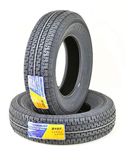 2 New Premium FREE COUNTRY Trailer Tires ST 205/75R14 8PR Load Range D
