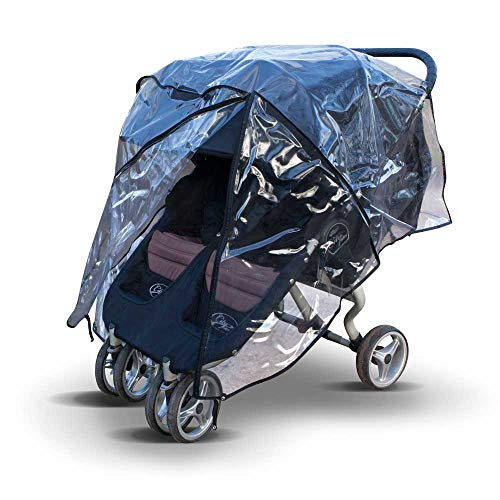 Raincover for Britax B-Agile Double Stroller, Made in The UK from Clear Supersoft PVC