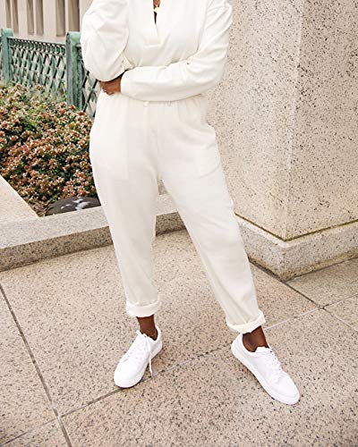 The Drop Women's Whisper White Sweatpant by @highlowluxxe