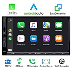 Builtin Apple CarPlay and Android Auto features seamlessly integrate your smartphone with the SA102's built-in display and controls via USB connection. Now you can make phone calls, access your music, send and receive messages, get directions, and mo...