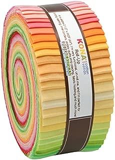 Kona Cotton Solids Sunrise Roll Up 43 2.5-inch Strips Jelly Roll Robert Kaufman Fabrics RU-262-43