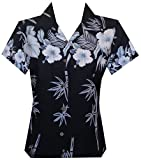 ALVISH Womens Hawaiian Shirt Aloha Beach Top Blouse Swim Casual Hawaiian Shirt for Women