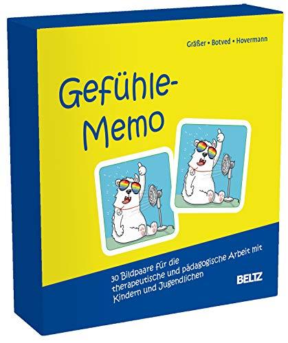Gefühle-Memo: 30 Bildpaare für die therapeutische und pädagogische Arbeit mit Kindern und Jugendlichen. Mit 12-seitigem Booklet in stabiler Box, Kartenformat 6,5 x 6,5 cm. (Beltz Therapiespiele)
