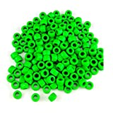 MayaRed 300pcs, Acrylic, 9mm, Opaque Color, Pony Beads, (Green)