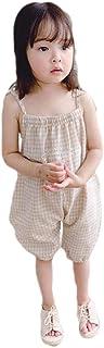 Howely Baby Cute Tank Summer One-Piece Plaid Cotton Romper Sunsuit Jumpsuit