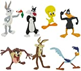 Comansi Lote 7 Figuras Looney Tunes - Bugs Bunny - Piolín - Pato Lucas - Silvestre - Coyote - Correcaminos - Tazmania