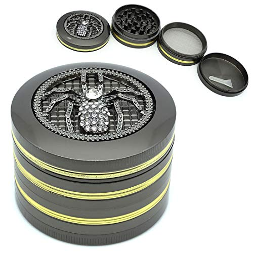 SNVIN Small Herb Grinder Comes with a Personalized Diamond Spider for Grinding Spices and Herbs