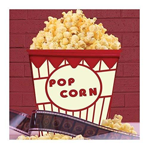 Thumbs Up Popcorn Behälter für die Mikrowelle, Silikon, weiß, 13.3 x 9.1 x 15.5 cm
