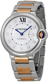 Cartier Ballon Bleu 36mm Unisex 18k Gold and Steel Automatic Watch with Diamond Dial - WE902031