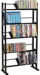 CA0027-230-CD/150-DVD/Blu-rays Element Wood/Metal Multimedia Storage Rack
