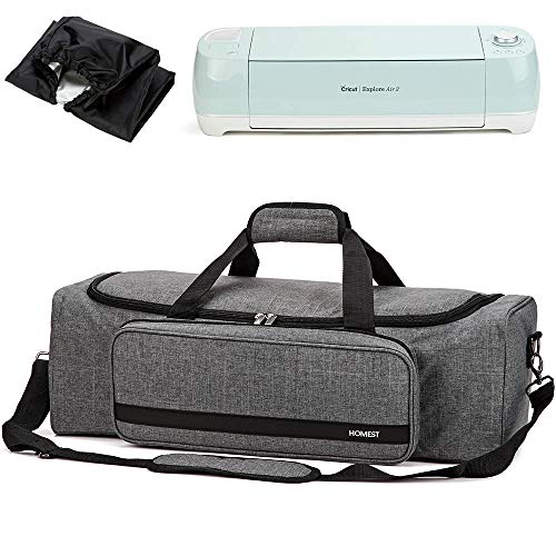 HOMEST Carrying Case with Large Pocket, Compatible with Cricut Explore Air 2, Cricut Maker, Silhouette CAME03, Grey