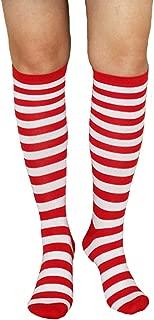 Girls Women Colorful Striped Novelty Cosplay Costume Long Tube Knee High Socks