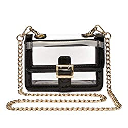 Clear boxy crossbody with an awesome cute look the best among cheap purses under 20 dollars for stadiums and concerts