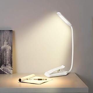 クリップライト LEDブックライト「無段階調光/目に優しい/充電式」 デスクライト 読書灯 三段階調光 (暖色/昼光色/白色) usb充電 コードレス 子供 勉強 明るい ミニ 小型 おしゃれ フレキシブル 譜面/ベッドサイド/卓上/寝室(白い)