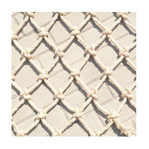 Decoratieve Hennep Jute Klimnet Cafe Foto wanddecoratie Net, Protection Stair leuning Plant Rattan netto Pond Fence Bouw veiligheidsnetten Stadium Fence (Size : 1x2m(3x6ft))