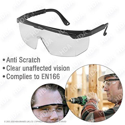 Gafas de seguridad con estándar transparente espejada Ojos de protección para interior/exterior General use-lightweight & Clear Vision