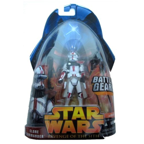 Star Wars Revenge of The Sith Clone Commander (Red) Battle Gear #33